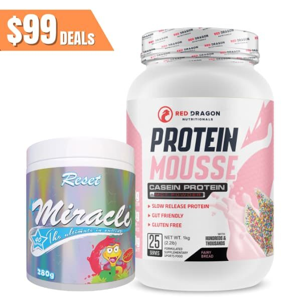 Red Dragon protein mousse + Reset Miracle stack