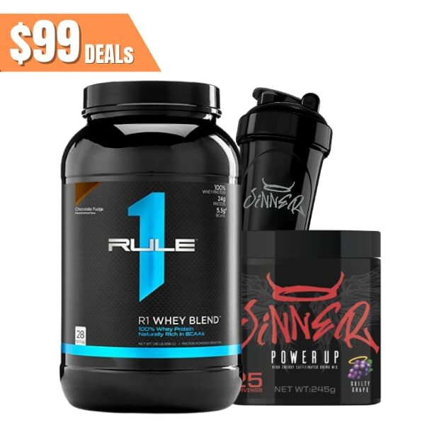 Rule 1 Proteins R1 whey blend + sinner pre stack