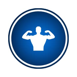 Shop by goal / build lean muscle icon