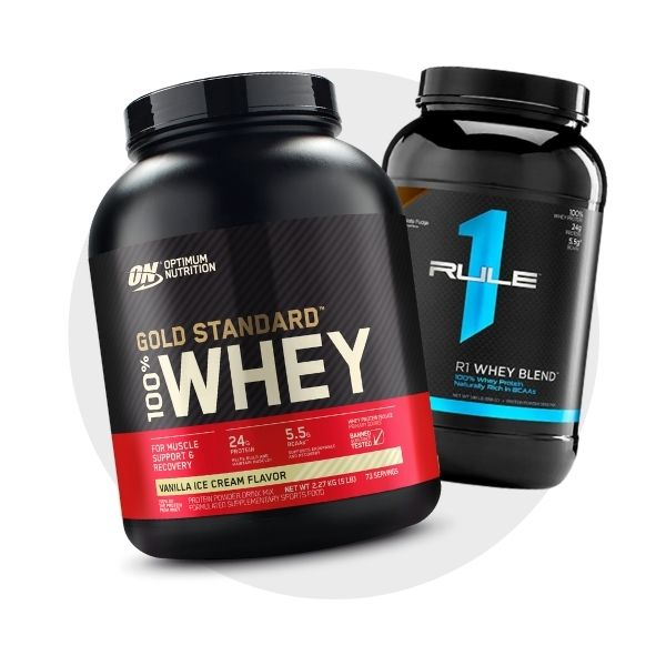 Whey protein shop by category build lean muscle logo