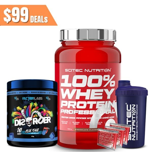 Scitec 100% whey protein / faction labs disorder