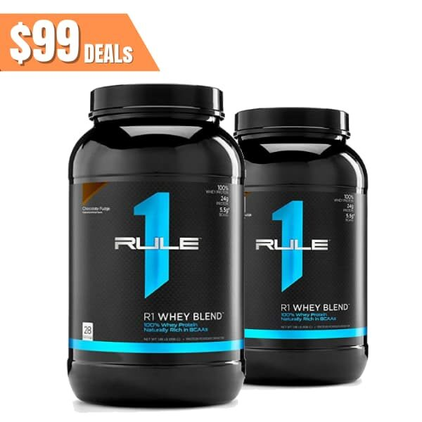 Rule 1 Proteins R1 whey blend Twin pack